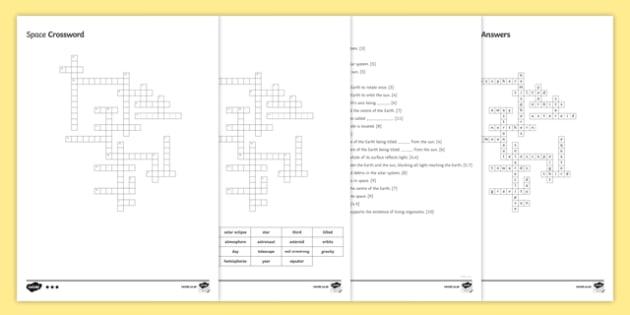KS3 Space Crossword