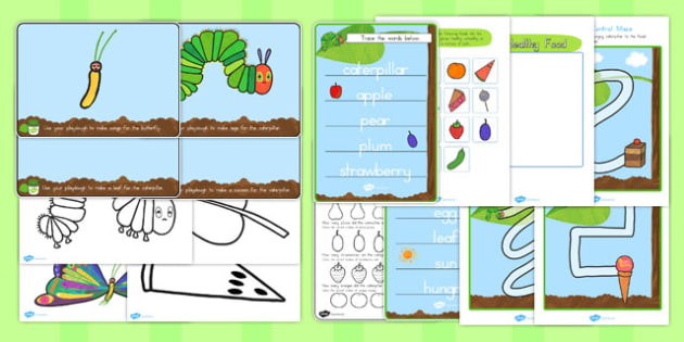 Fine Motor Skill Resource Pack to Support Teaching on The Very Hungry Caterpillar - australia