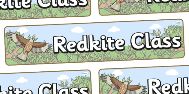 Red Kite Themed Classroom Display Banner - Themed banner, banner, display banner, Classroom labels, Area labels, Poster, Display, Areas