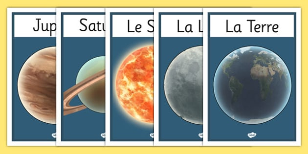 Planets Display Posters French - planets display posters french, french, france, francais, solar system, display, banner, sign, poster, solar, system, pluto, venus, planets, mercury, planet