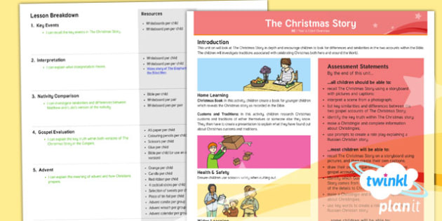 RE: The Christmas Story Year 6 Planning Overview