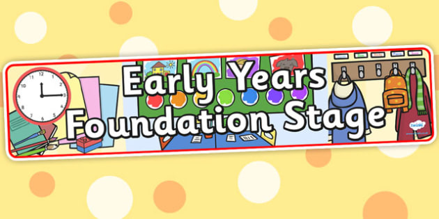 Early Years Foundation Stage Display Banner - header, display