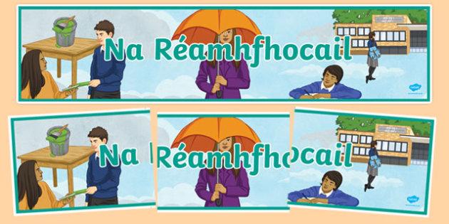 Réamhfhocail Display Banner