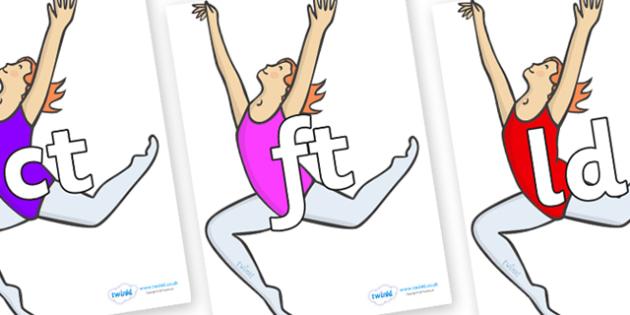 Final Letter Blends on Ballet Dancers - Final Letters, final letter, letter blend, letter blends, consonant, consonants, digraph, trigraph, literacy, alphabet, letters, foundation stage literacy