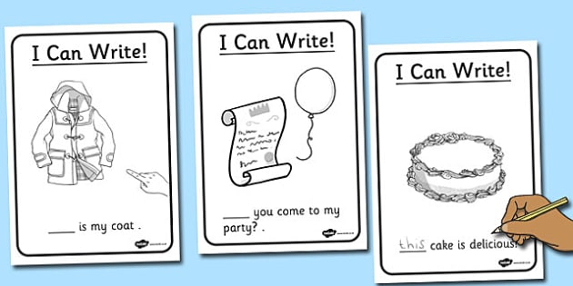 Phase 3 High Frequency Word Sentence Writing Activity Sheet Pack, worksheet