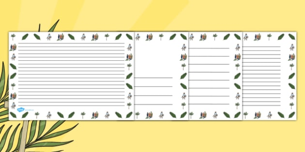 Palm Sunday Landscape Page Borders - border, Easter, religion