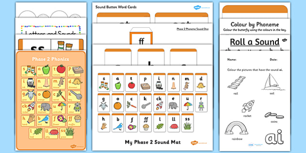 Teaching Assistant Phase 2 Phonics Resource Pack - teaching