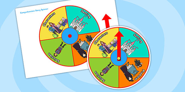 Comprehension Story Spinner - comprehension, story spinner, stories, reading aid, visual aid, writing aid, comprehension aid, reading, writing, literacy