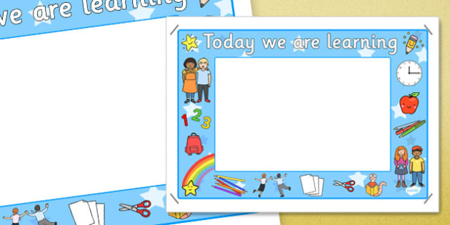 Today We Are Learning Display Sign Blue - display sign, blue