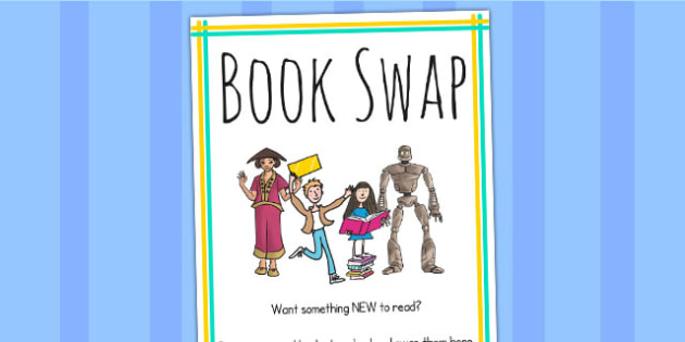 Book Swap Box Label - books, reading, read, labels, signs, swap
