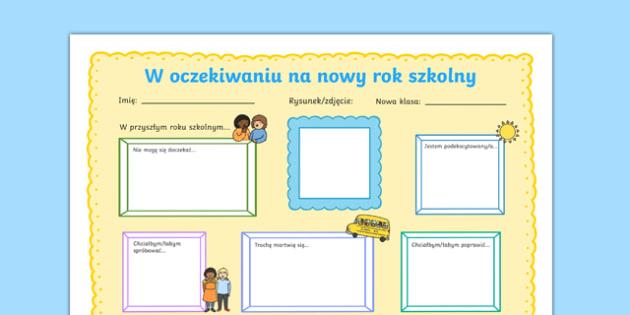 Karta Czekają na nowy rok szkolny po polsku, worksheet