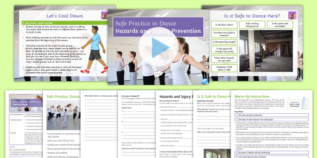Safe Practice in Dance Lesson 2: Hazards and Injury Prevention -  KS3 Dance: Safe Practice, Dance, PE, Safe practice, KS3, Dance lesson