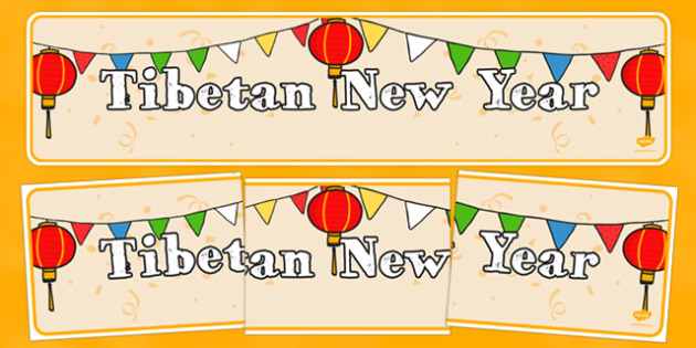 Tibetan New Year Display Banner - new year, display banner, display, banner, tibetan, tibetan new year