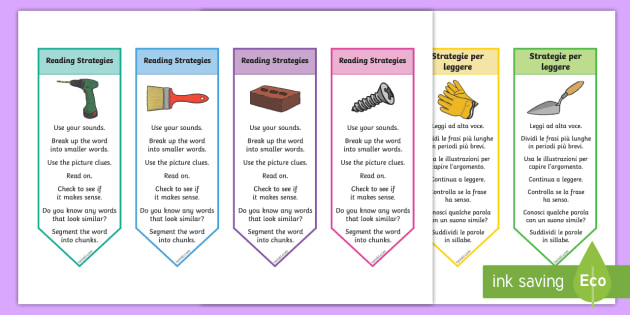 english reading and strategies Comprehension strategies are sets of steps that good readers use to make sense of text comprehension strategy instruction helps students become purposeful, active readers who are in control of their own reading comprehension the seven strategies here appear to have a firm scientific basis for improving text.
