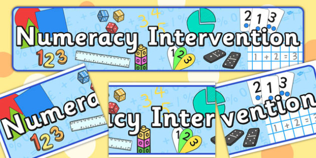 Numeracy Intervention Display Banner - banners, displays, maths