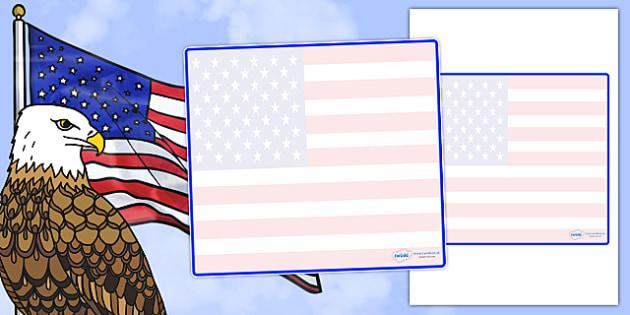 USA Themed Editable Classroom Area Display Sign - Themed Classroom Area Signs, KS1, Banner, Foundation Stage Area Signs, Classroom labels, Area labels, Area Signs, Classroom Areas, Poster, Display, Areas