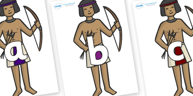 Phoneme Set on Egyptian Archers - Phoneme set, phonemes, phoneme, Letters and Sounds, DfES, display, Phase 1, Phase 2, Phase 3, Phase 5, Foundation, Literacy