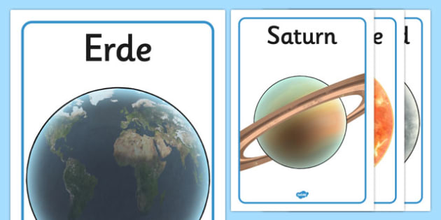 Our Solar System Display Posters German - german, poster, displays
