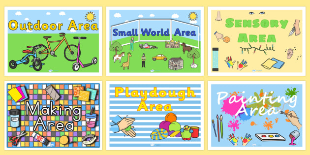 Classroom Area Signs - class areas, area signs, sign, labels