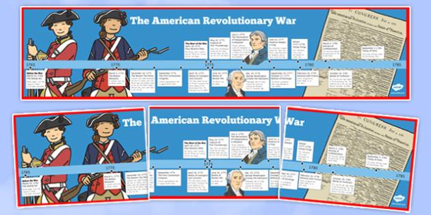 USA Revolutionary War Timeline - US Resources, Revolutionary War, Timeline