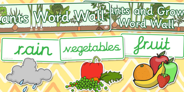 Plant and Growth Word Wall Pack - plants, growth, display, visual