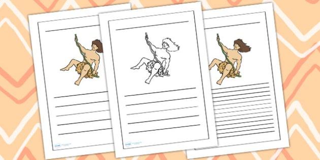 Tarzan Writing Frame - tarzan, tarzan themed, tarzan writing frames, themed writing frames, tarzan themed writing frames, jungle themed, writing frame