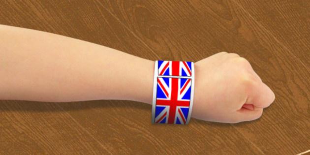 Union Flag Wristbands - union, flag, wristbands, wrist, band