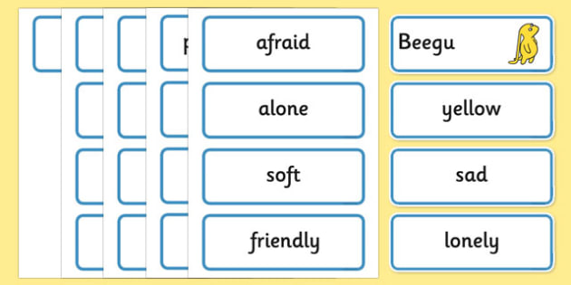 Word Cards to Support Teaching on Beegu - beegu, word cards, story, story book, word, cards