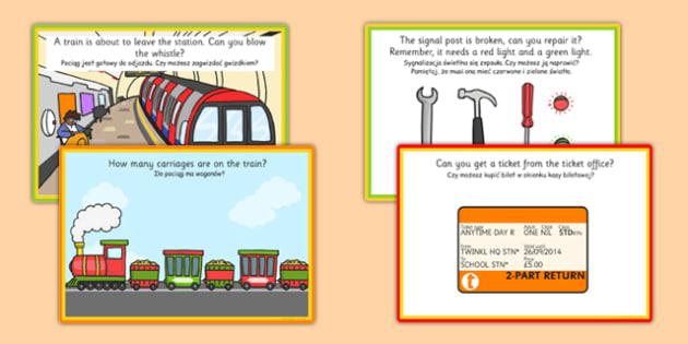 Challenge Cards Train Station Polish Translation - polish, challenge, cards, train, station