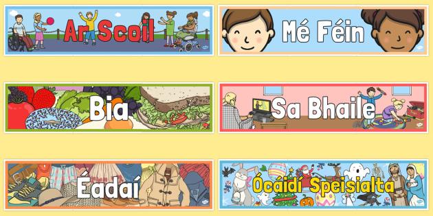 Standard Theme Display Banners Gaeilge - gaeilge, roi, irish, standard, banners, display