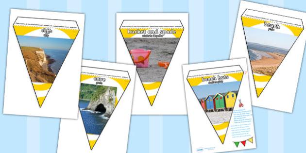 Polish Translation Seaside Photo Display Bunting - polish, seaside