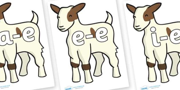 Modifying E Letters on Baby Goats - Modifying E, letters, modify, Phase 5, Phase five, alternative spellings for phonemes, DfES letters and Sounds