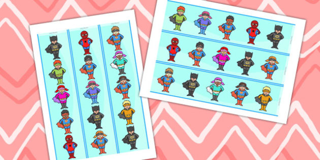 Cute Superheroes Display Border - super hero, superhero display