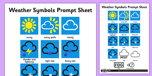 Weather Symbols Activity Sheet Weather Weather Symbols