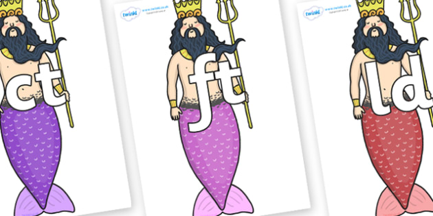 Final Letter Blends on Sea King - Final Letters, final letter, letter blend, letter blends, consonant, consonants, digraph, trigraph, literacy, alphabet, letters, foundation stage literacy