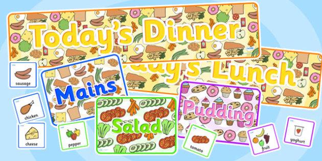 Dinner Time Communication Pack-dinner, dinner time, food, meals, communication, pack, dinner pack, meals pack, food pack, dinner communication