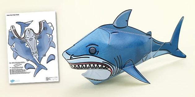 Under the Sea Simple 3D Shark - under the sea, 3d, shark, model