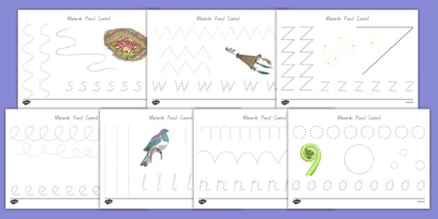 Matariki Themed Pencil Control Activity Sheets - nz, new zealand, matariki, pencil control, activity, worksheet