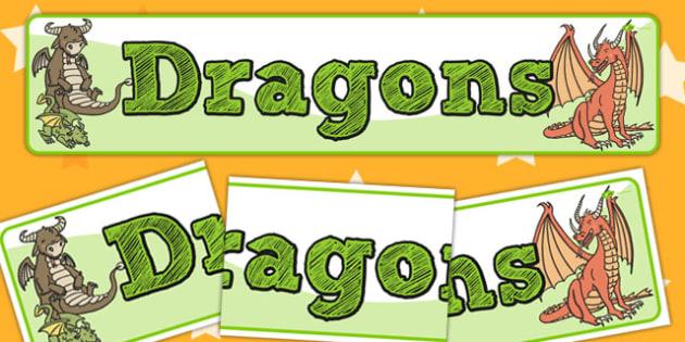 Dragons Display Banner - banners, displays, dragon, posters