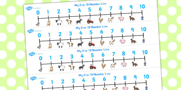 Farmer and Duck Number Lines 0-10 -  farmer duck, number line, 0-10, farmer duck number line, themed number line, numeracy, maths, nubmer track, counting