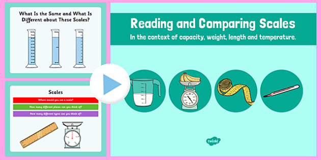 Reading and Comparing Scales - reading, comparing, scales, read