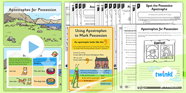 PlanIt Y2 SPaG Lesson Pack: Apostrophes for Possession - GPS, punctuation, apostrophes, possession, possessive apostrophe