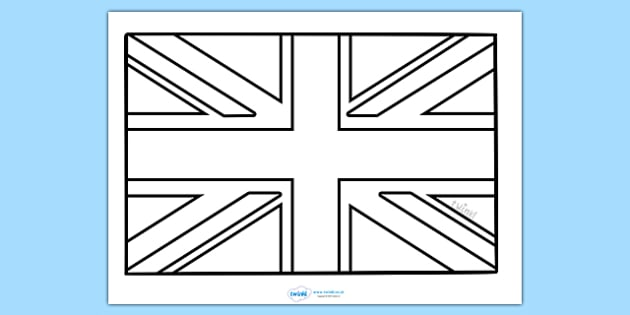 Union Jack Colouring Sheet  Football Flag World Cup Soccer