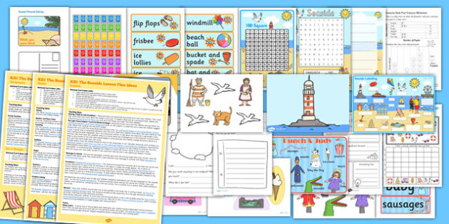 KS1 The Seaside Lesson Plan Ideas and Resource Pack - seaside, lesson