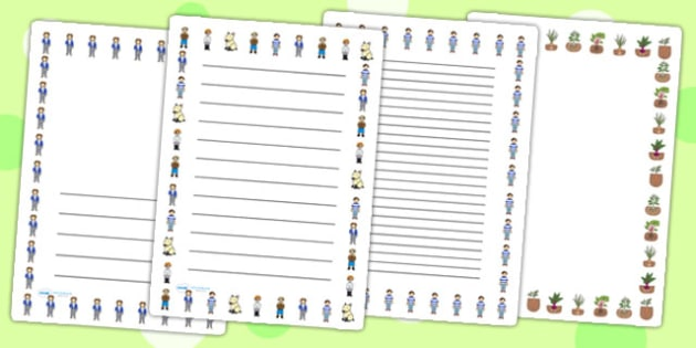 Oliver's Vegetables Page Borders - Oliver's vegetables, borders