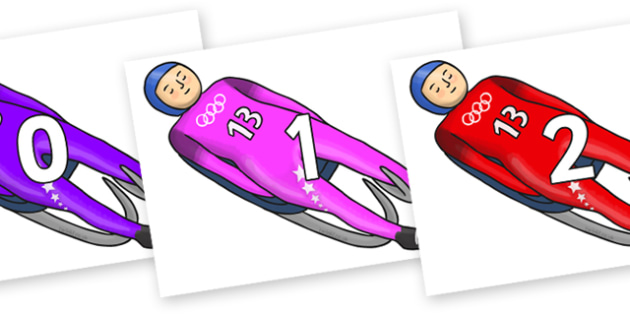 Numbers 0-31 on Luge - 0-31, foundation stage numeracy, Number recognition, Number flashcards, counting, number frieze, Display numbers, number posters
