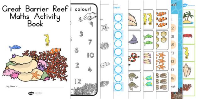 Great Barrier Reef Maths Activity Booklet - australia, barrier