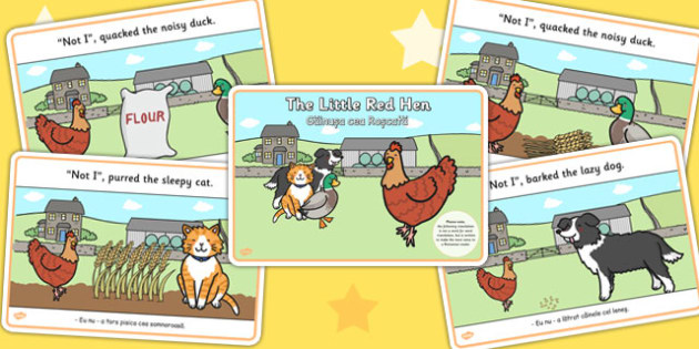 The Little Red Hen Story EAL Romanian Translation Version - story