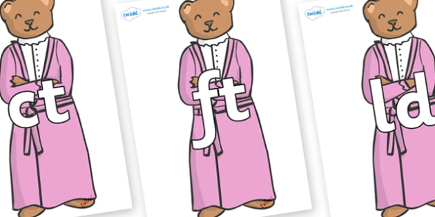 Final Letter Blends on Mummy Bear - Final Letters, final letter, letter blend, letter blends, consonant, consonants, digraph, trigraph, literacy, alphabet, letters, foundation stage literacy