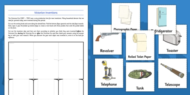 The Victorians Inventions - progress, history, science, famous, ks1, ks2, victorian